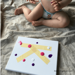 Finger Paint Letter DIY